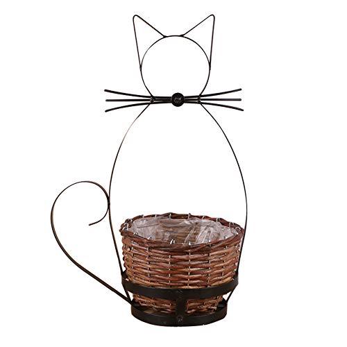 Namgiy Pot de Fleurs à Suspendre pour intérieur ou extérieur 19 cm x 8 cm x 26,5 cm, Chat, 13cm*19cm*19cm