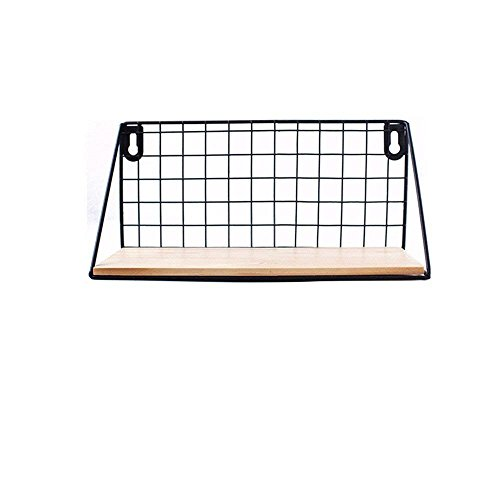 Margueras - Estantería de pared para colgar (madera y hierro, carga máxima de 20 kg) para salón, dormitorio, oficina, baño o cocina