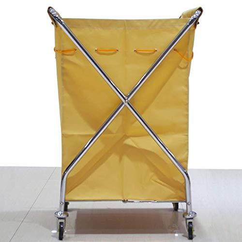 Lqqff carrello portabiancheria carrello di pulizia per hotel auto in acciaio inox carrello da lavoro