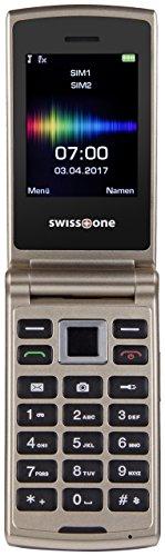 Swisstone SC 700 6,0 cm (2,4 Zoll) Dual SIM Handy (mit extra großem beleuchtetem Farbdisplay) gold