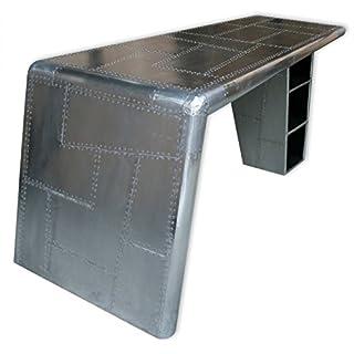KMH®, Schreibtisch *AIRCRAFT* aus Aluminum 79 x 170 cm (#202226)