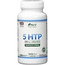 5-HTP - 200 mg - Doble Potencia - 180 Comprimidos (Suministro para 6