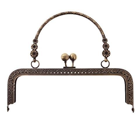 MagiDeal Poignée De Sac À Main Bronze 20.5cm Accroche Sac En Métal Replacement Pièce Bagage Loisirs Créatifs DIY