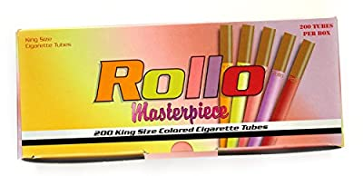ROLLO MASTERPIECE - King Size Multi farbige Zigarettenhülsen - 200 Tuben pro Karton von Rollo
