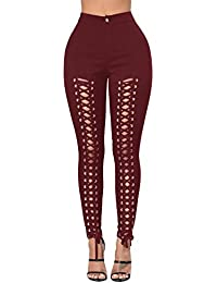 Femmes Skinny Denim résille Jean Jeans Déchirés Pantalon Stretch Slim  Pantalons Crayon Bandage Jeggings Leggings Collants 8cb9c7ee8ae