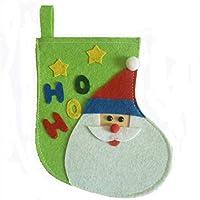 Patrón de Santa Calcetines de Navidad Calcetines Bolsa de Regalo de Dulces Adornos de Árbol de Navidad Decoraciones Natal de Navidad