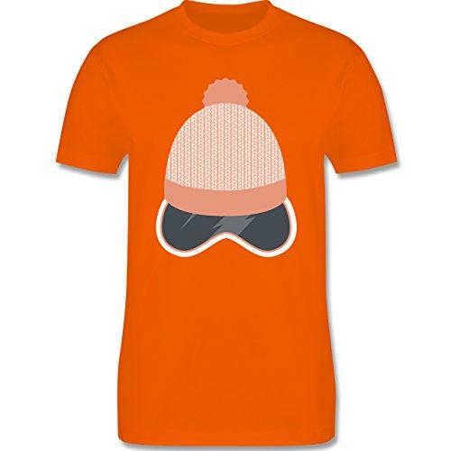 Après Ski - Ski Snowboard Brille Mütze - Herren Premium T-Shirt Orange