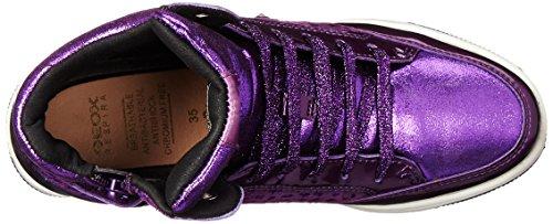 Geox Jr Creamy A, Baskets hautes fille Violet - Violett (C8000PURPLE)