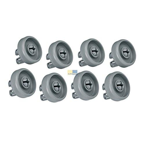 Bauknecht 481252888069 Korbrolle Rolle Rad Geschirrkorb für Unterkorb 8 Stück Spülmaschine Geschirrspüler auch Whirlpool Hanseatic Ikea Ignis