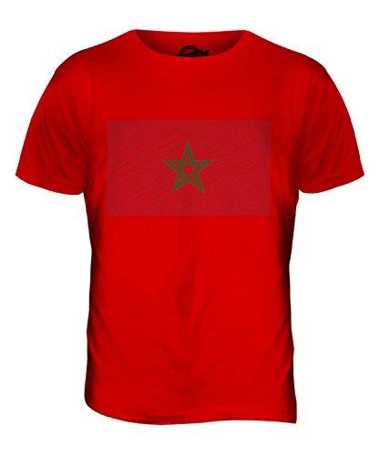 CandyMix Marokko Kritzelte Flagge Herren T Shirt Rot
