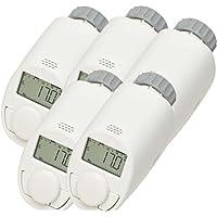 5er-Set Typ N Elektronik-Heizkörper-Thermostat mit Boost-Funktion, bis zu 30 % Heizkostenersparnis