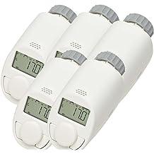 Set da 5 valvole termostatiche elettriche per radiatore, modello N, con funzione Boost, risparmio energetico fino al 30%