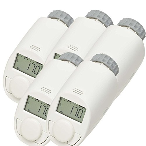 eqiva heizkoerperthermostat model n 5er-Set Typ N Elektronik-Heizkörper-Thermostat mit Boost-Funktion, bis zu 30 % Heizkostenersparnis