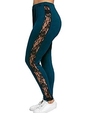 3b9a79e9114b Donna Leggings taglia grossa Sport Pantaloni - Juleya donne Pantaloni Yoga  a vita alta Pantaloni sportivi