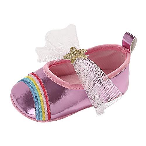 Vovotrade Baby schuhe mädchen Spitze Regenbogen Star Schuh-Turnschuh Anti-Rutsch weiches Solekleinkind für 0-18 Monate By