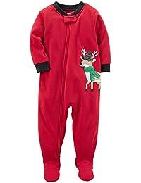 c8e34ad58c Carter's Schlafanzug Fleece 98/104 Einteiler Winter Reißverschluss für Jungen  Schlafoverall US ...