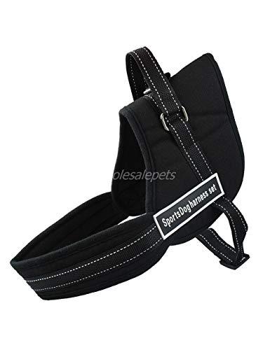 XQQX Hundeleine Harness Nylon No Pull LargeHarness Quick Control Pet Weste Für DasTraining Zu Fuß, Blackl (Nylon Sicherheits-weste)