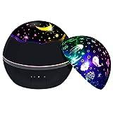 Sterne Projektor Lampe SZSMD Drehend LED Sternenhimmel Projektor Kinder, 8 Romantische licht Nachtlicht Kinderlampe Baby Einschlafhilfen für Schlaf Entspannen oder Party