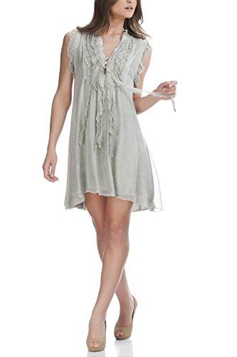 es Sommerseidenkleid mit Rüschen auf der Oberseite (Rüschen Auf Kleider)
