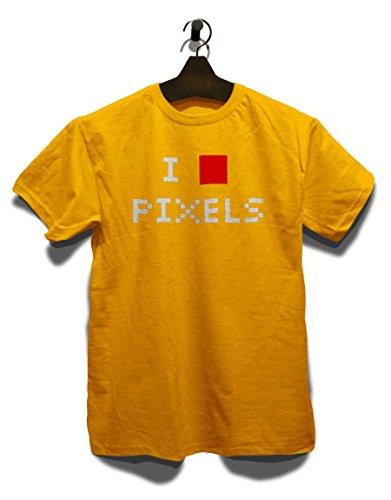 I Love Pixels T-Shirt Gelb