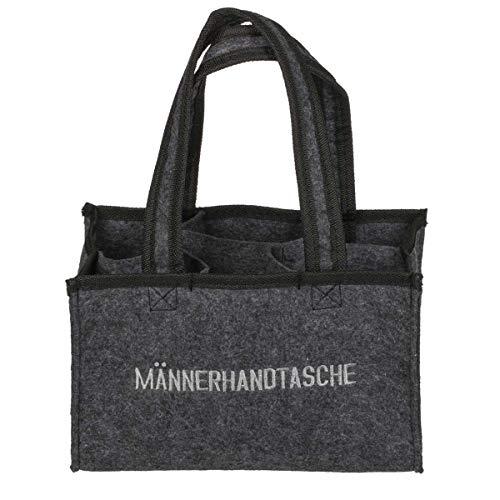 OOTB Graue-Filz-Herrenhandtasche mit 6 Fächern -