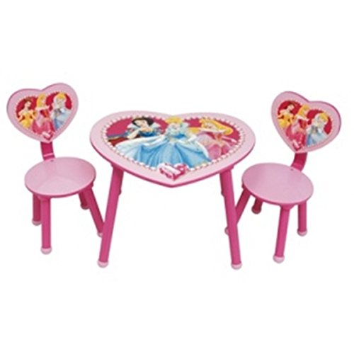 ARDITEX Disney WD5034 - Set Mesa + 2 sillas, mobiliario Infantil de Princesas Disney