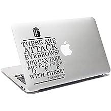 Doctor Who Cita Vinilo Funny Attack Cejas MacBook adhesivo coche ventana adhesivo