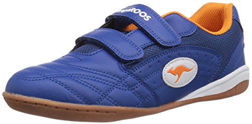 KangaROOS Backyard, Low-Top Sneaker bambino, Blu (Blau (royal blue/orange 476)), 38