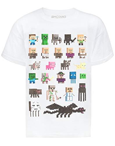 Minecraft Sprites Boys White T-Shirt (Sprite Vanilla)
