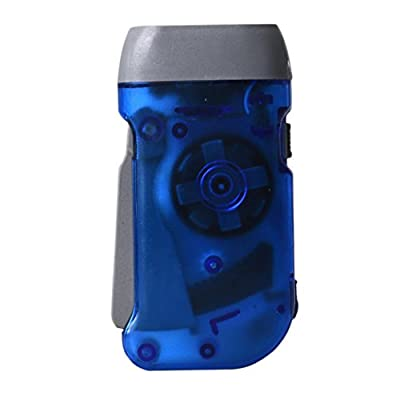 Wind up Hand Pressing Crank Emergency Camping LED Flashlight Torch Byste Kinetic Energy Transfer Portable Lightweight Plastic 10×5×2cm No Need Batteries : everything £5 (or less!)