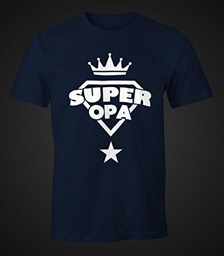 Herren T-Shirt - Super Opa Geburtstag Geschenk - Moonworks Navy