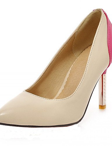 WSS 2016 Chaussures Femme-Bureau & Travail / Habillé / Décontracté-Bleu / Rose / Rouge-Talon Aiguille-Talons-Talons-Similicuir red-us11.5 / eu43 / uk9.5 / cn45