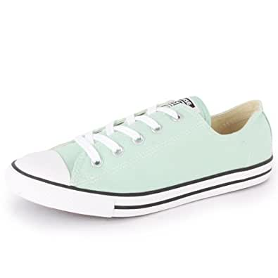 Converse Chuck Taylor Dainty Ox 542513F Womens Canvas Laced Trainers Light Blue - 7