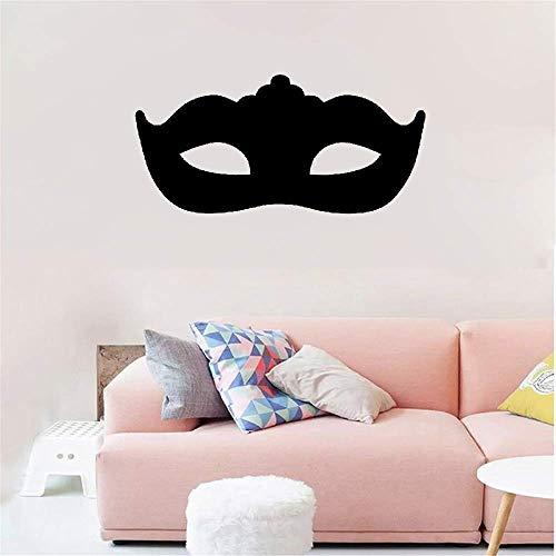 Wandtattoo Wohnzimmer Wandtattoo Schlafzimmer Modernes Maskerade-Masken-Kopfteil-dekoratives schwarzes Schlafzimmer - Maskerade Schwarze Katze Maske