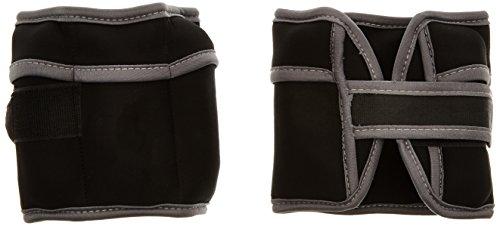 ScSPORTS® Gewichtsmanschetten 2X 2 kg mit Klettverschluss für Handgelenke & Fußgelenke, Gewichte herausnehmbar, schwarz