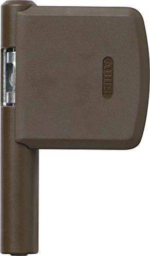 ABUS Scharnierseiten-Sicherung FAS101 EK, braun, 244872 (Holz-tür-sicherheit)
