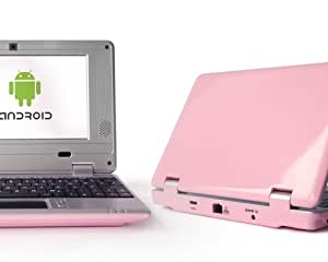 NEXTWOLF 7 Zoll Mini Netbook Android 1,5 GHz 512 MB Webcam Notebook HDMI Pink