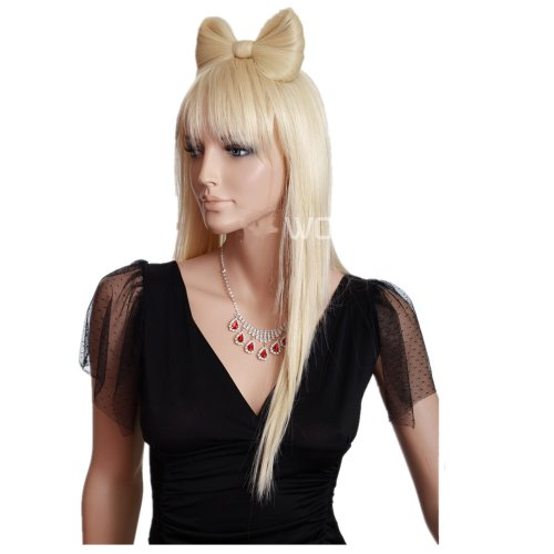 Lady Blonde Perücke (Lady Gaga Perücke Lange Blonde für Frauen Beruflichen Realistischen Synthtic Perücken)