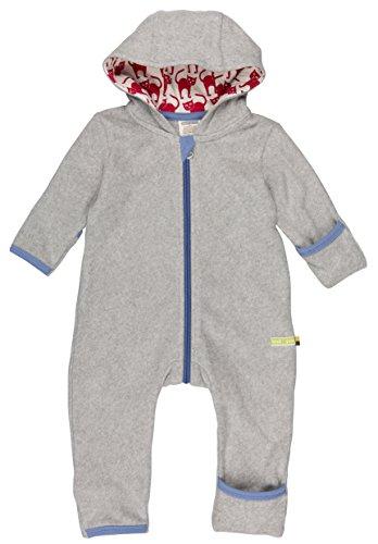 loud + proud Unisex Baby Schneeanzug Overall Fleece, Grau (Grey Gr), 68 (Herstellergröße: 62/68)