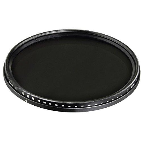Hama Graufilter Vario, 2-fach Vergütung, 40,5 mm, für Kamera, SLR, DSLR Objektiv, ND2-400, variabel verstellbar