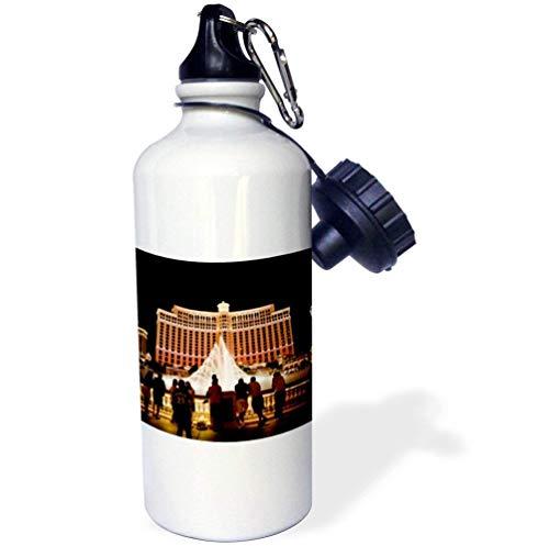 qidushop Nevada Las Vegas Bellagio Hotel Casina weiß lustige Wasserflasche Kinder Edelstahl Isolierbecher Reisebecher 535 ml -