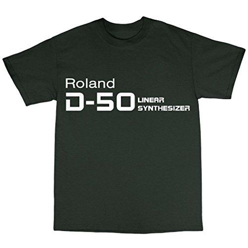 D-50 Synthesiser T-Shirt Baumwolle Waldgrün
