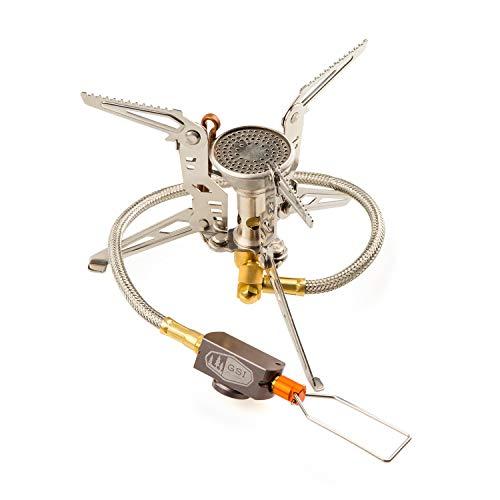 GSI Outdoors Pinnacle 4 Jahreszeiten-Schlauchkocher 2600 Watt Gaskocher, Silber, M
