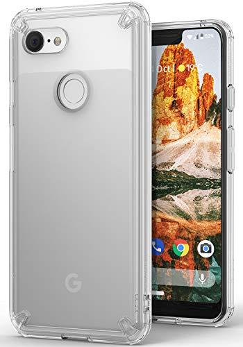 Ringke Fusion Hülle für Google Pixel 3XL [Transaprent] Flexibel TPU Rahmen mit Hart Klar Rückseite Pixel 3 XL Schutz Handyhülle