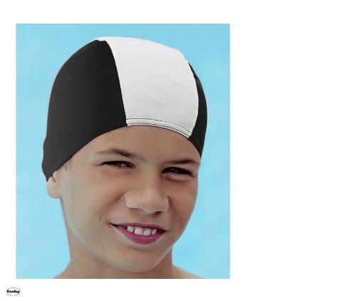 Fashy 3236 Stoffhaube (Badekappe für Kinder mit max. ca. 50/52 cm Kopfumpf.) - schwarz/weiß