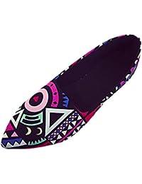 BBestseller,Masaje Zapatos de Guisantes, mujer casual multicolor todas las Flats loafers Shoes Slip Plana Mocasines Un pedal Lazy Mujeres Zapatos(eu35-39,multicolor)