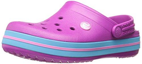 crocs Unisex-Kinder Crocbandclogk Clogs, Violett (Vibrant Violet), 25-26 EU