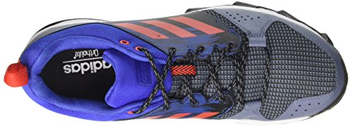 adidas Galaxy Trail M, Chaussures de Running Homme Multicolore (Raw Steel/Hi-Reset Red/Hi-Reset Blue 0)