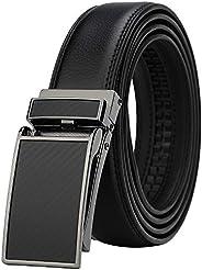 Men's Comfort Genuine Leather Ratchet Dress Belt with Automatic Click Bu