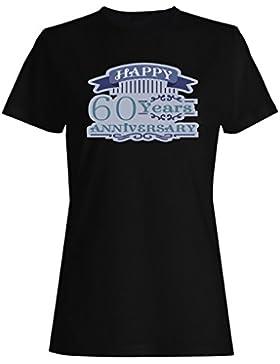 Regalo de la celebración del aniversario de 60 años camiseta de las mujeres g421f